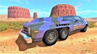 Мультики про машинки - Военные грузовики и новый суперкар воришки