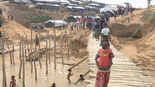 バングラデシュのロヒンギャ難民キャンプ日本赤十字社提供