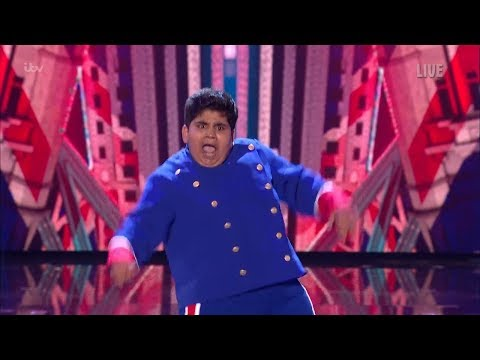 Britain's Got Talent 2019 Live Semi-Finals Night 1 Akshat Full Clip S13E09 (видео)