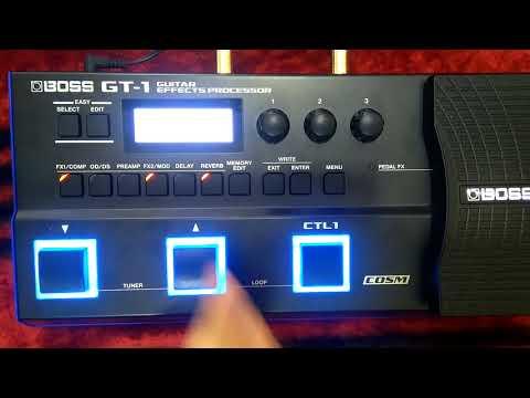 Boss GT1 elektro bağlama saz ve eşik altı tonları