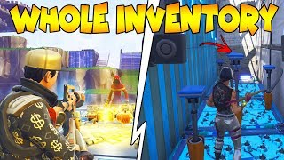 Dumb Scammer Gets My Inventory Big Mistake! 😫 (Scammer Gets Scammed) Fortnite Save The World