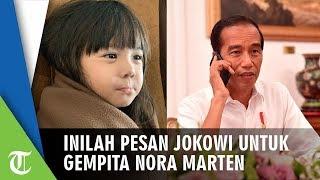 Inilah Pesan Jokowi kepada Gempita Nora Marten