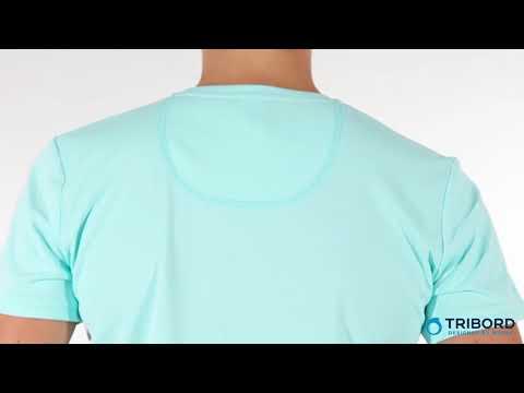 aeee2bf84 Camiseta com proteção UV 50+ Feminina Azul Claro Tribord - Exclusividade  Decathlon