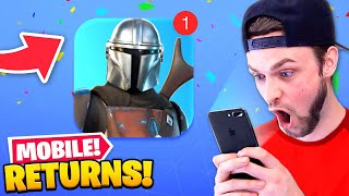 The *RETURN* of Fortnite Mobile!