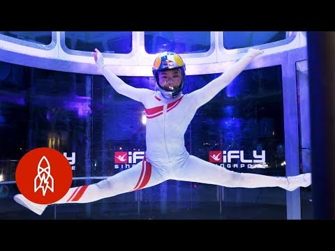 Meet a Professional Indoor Skydiver