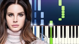 Lana Del Rey   Doin Time (Piano Tutorial)