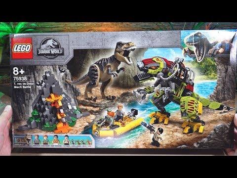 Pure build: LEGO Jurassic World T. rex vs. Dino-Mech Battle 75938 real time