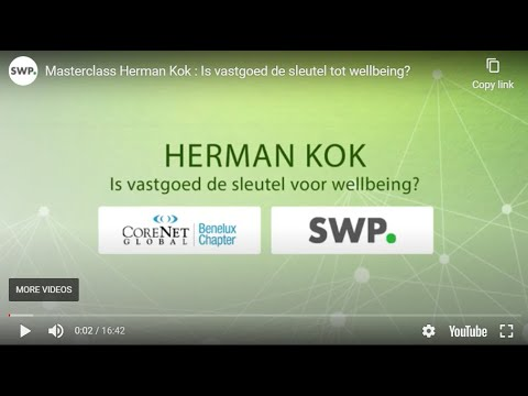 Tweede masterclass CoreNet Global Benelux Chapter en Smart WorkPlace
