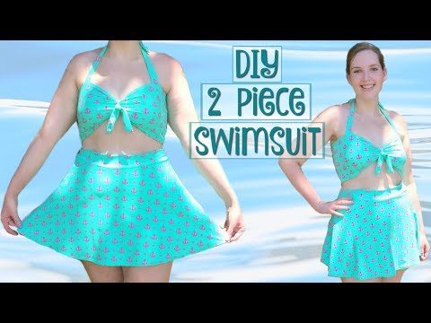 How to Make a 2 Piece High Waist Swimsuit | Retro Bathing Suit Sewing Tutorial