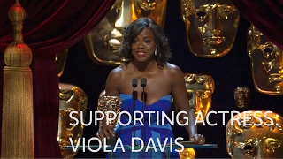 Viola Davis Wins The Best Supporting Actress BAFTA For Fences  The British Academy Film Awards 2017