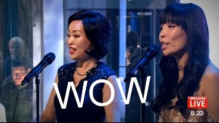 OMG! Dami Im & Helen (mom) LIVE ON TV! singing OPERA