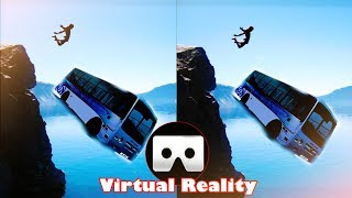 Falling From The Cliff With a Bus VR Videos 3D SBS [Google Cardboard VR] Virtual Reality VR Box