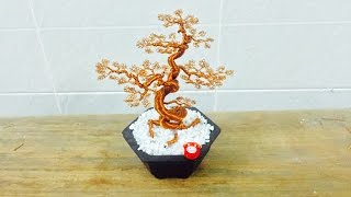 [Bonsai Handmade]How To Make Bonsai Tree Wire Copper