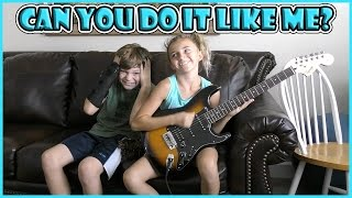 CAN YOU DO IT LIKE ME? | CHALLENGE | We Are The Davises
