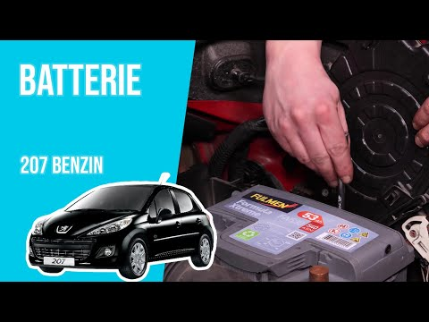 Batterie wechseln 207 1.4i 16V 🔋