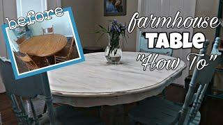 DIY DINING ROOM TABLE MAKEOVER | Farmhouse Table | Chalk Paint Tutorial |