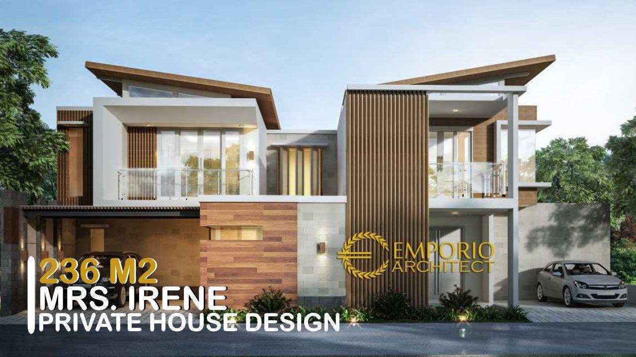 Video 3D Desain Rumah Modern 2 Lantai Ibu Irene di Badung, Bali