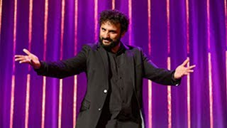 video: Nish Kumar met with boos and bread rolls for charity lunch Brexit jokes