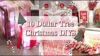 10 DOLLAR TREE CHRISTMAS DECOR DIYS | FARMHOUSE & TRADITIONAL DECOR