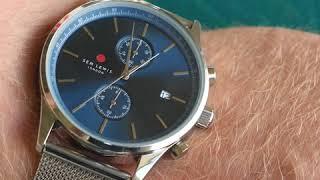 Sem Lewis Metropolitan Northwick Park chronograph men's watch silver grey/silver