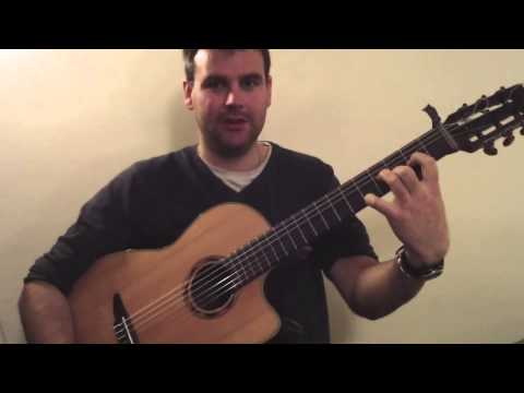 The basics of dropped d+playing a reelTim Edey's Homemdade Dropped D Celtic guitar series 1