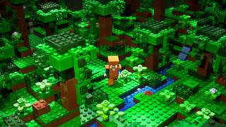Brick Raider -  LEGO Minecraft - Stop motion video