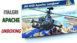 Italeri Apache Longbow AH-64D   1/72 Scale Plastic Model Kit   Unboxing Review
