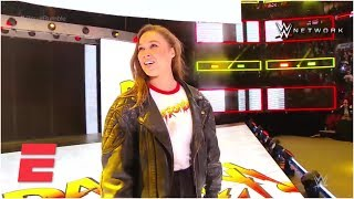 Ronda Rousey makes her big WWE entrance | ESPN - Video Youtube
