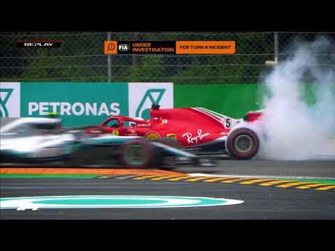 Hamilton and Vettel Collide at Monza | 2018 Italian Grand Prix