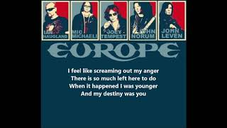 EUROPE- Scream Of Anger Lyrics