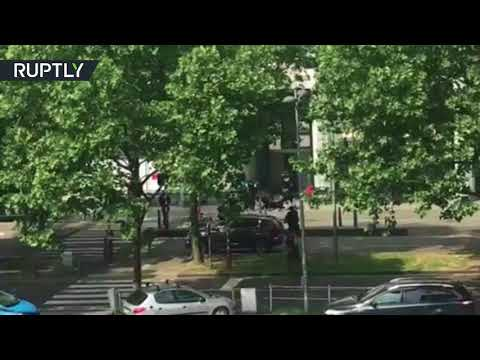 Video allegedly shows moment Liege attacker shot dead by police