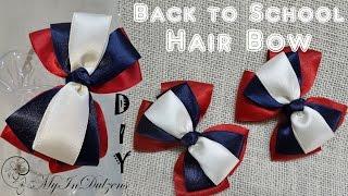 D.I.Y. Back To School Hair Bow | MyInDulzens