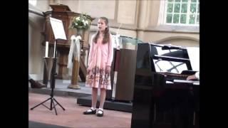 Miréya (10 years) - The last rose of summer (Muziekuitvoering Groesbeek 2010)