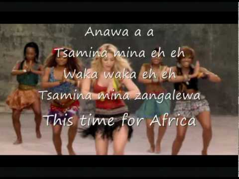 Shakira - Waka Waka + lyrics