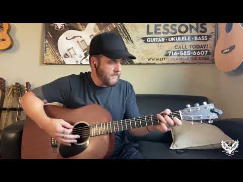 Little Chris Music - Don't Think Twice - Strumming patterns to practice