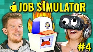 GREASE AND SCAMS! Job Simulator: Mechanic | HTC VIVE VR (React: Gaming)