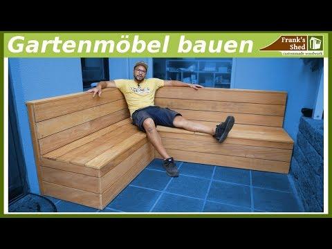 Gartenmöbel aus Holz bauen    Sitzbank für Terrasse selber bauen   DIY