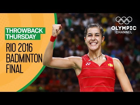 Carolina Marin (ESP) V P.V. Sindhu (IND)- Women's Badminton Final Rio 2016 | Throwback Thursday