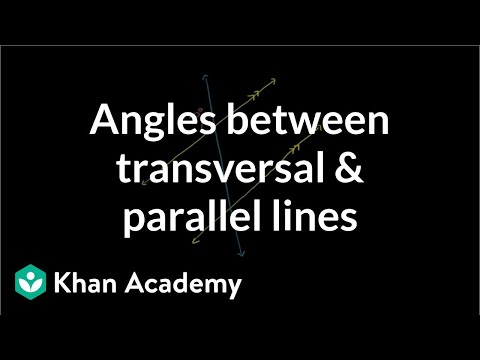 Angles formed by Parallel Lines and Transversals Worksheet