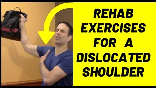 Exercises and strengthening for shoulder dislocation