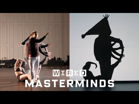 Dance company shows how they create shadow images using bodies [11:41]