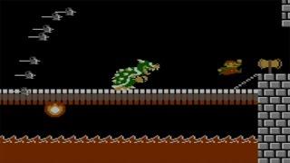 Super Mario Bros. (NES) - All Bosses (No Damage)