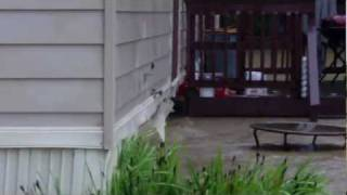 preview picture of video 'Rutland Vermont flooding crescent st.AVI'