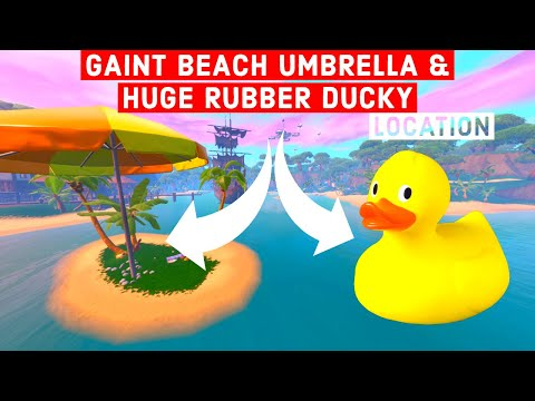 Visit a giant beach umbrella and a huge rubber ducky in a single match 14 Days of Summer Fortnite