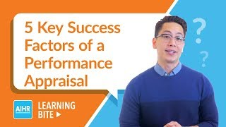 5 Key Success Factors of a Performance Appraisal   AIHR Learning Bite