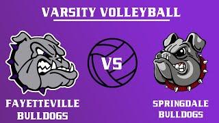 Varsity Girls Volleyball I Springdale @ Fayetteville