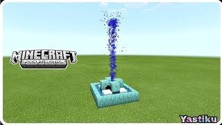 FOUNTAIN using Redstone and Arrow Tutorial in Minecraft Bedrock || MCPE