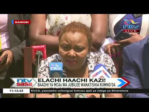 MCAs in Jubilee party have a change of heart on House speaker Beatrice Elachi's impeachment