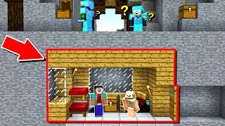 100% HIDDEN MINECRAFT TRAP HOUSE! (Minecraft Trolling)
