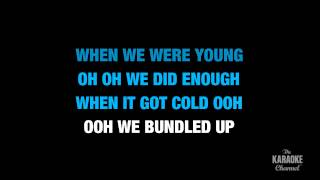 """Stubborn Love in the Style of """"The Lumineers"""" karaoke video with lyrics (no lead vocal)"""
